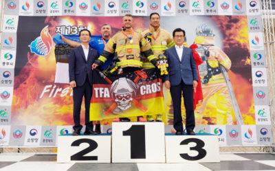 Firefighter Posanz defends world championship title