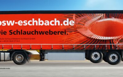 'Die Schlauchweberei' with strong presence on the fast lane